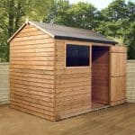 6' x 8' Reverse Overlap Apex Wooden Shed