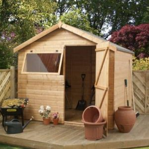 6' x 8' Tongue and Groove Reverse Apex Shed