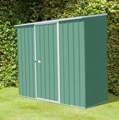 7' 5 x 5' Premium Pale Eucalyptus Easy Build Pent Metal Shed
