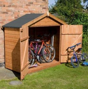 7' x 3' Tongue and Groove Bike Shed