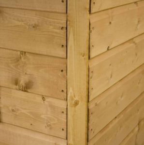 7' x 5' Tongue and Groove Offset Apex Shed External Wall