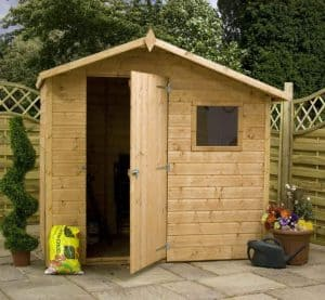 7' x 5' Tongue and Groove Offset Apex Shed Front
