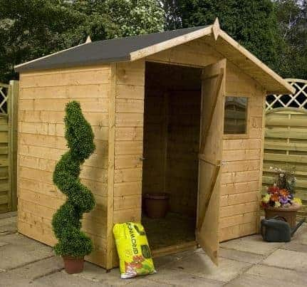 the 7 x 5 tongue and groove offset apex shed combines the quality construction and practical features of a traditional garden shed at a great price - Garden Sheds 7x5