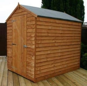 7' x 5' Windowless Standard Overlap Apex Wooden Shed