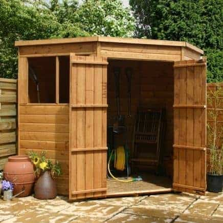 7' x 7' Double Door Tongue and Groove Pent Shed
