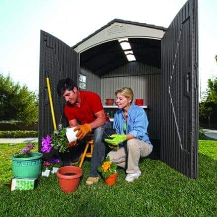7' x 7' Lifetime Plastic Outdoor Storage Shed