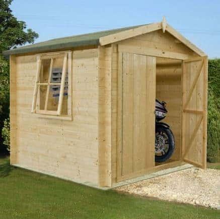 7' x 7' Shire Bradley Log Cabin