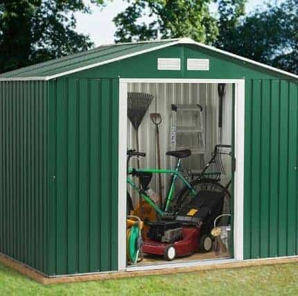 8' x 10' Emerald Rosedale Metal Shed