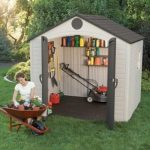 8' x 10' Lifetime Plastic Outdoor Storage Shed With 1 Window
