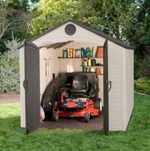 8' x 12.5' Lifetime Plastic Outdoor Storage Shed With 1 Window