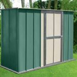 8' x 3' Canberra Utility Metal Shed with Flat Roof and Hinged Door