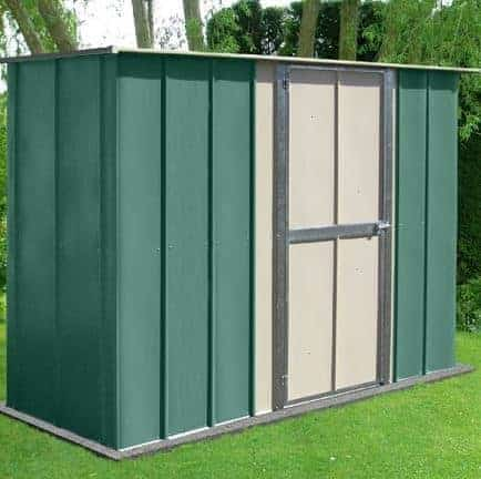 8u0027 X 3u0027 Canberra Utility Metal Shed With Flat Roof And Hinged Door