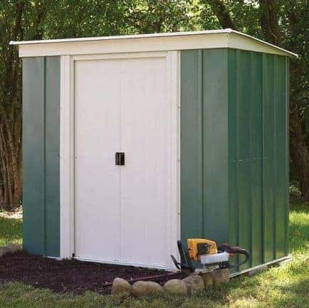 8' x 4' Rowlinson Metal Pent Garden Shed