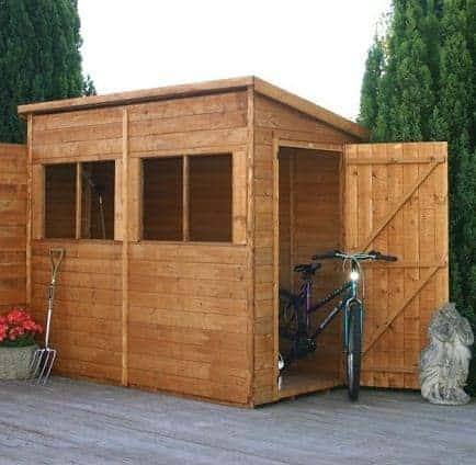 8' x 4' Tongue and Groove Pent Shed
