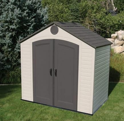 8' x 5' Lifetime Plastic Outdoor Storage Shed
