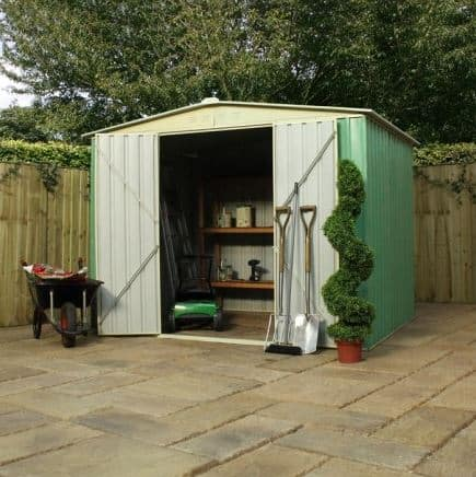 8' x 6' Budget Apex Metal Shed