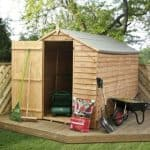 8' x 6' Budget Apex Overlap Garden Shed