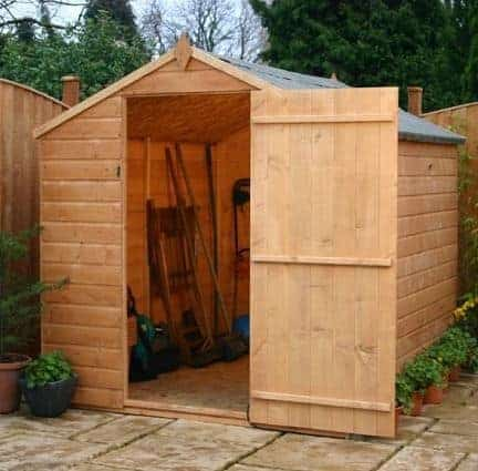 8' x 6' Budget Tongue and Groove Apex Garden Shed