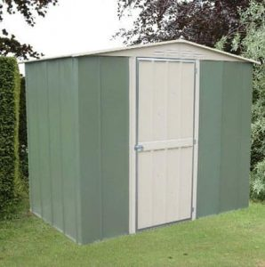 8' x 6' Canberra Metal Shed with Hinged Door