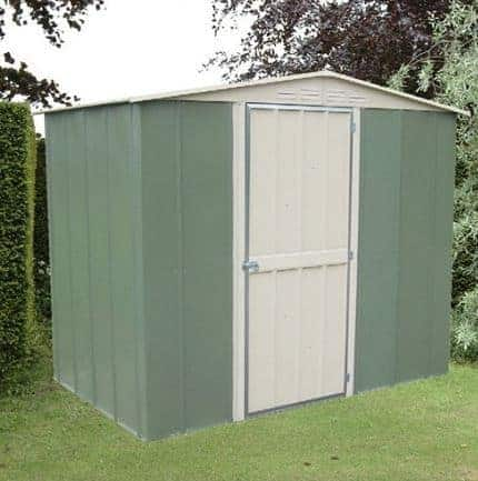 8u2032 X 6u2032 Canberra Metal Shed With Hinged Door