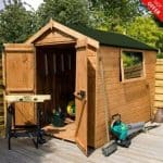 8' x 6' Double Door Shiplap Tongue and Groove Apex Shed