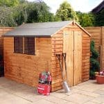 8 x 6 Double Door Standard Overlap Apex Garden Shed closed door