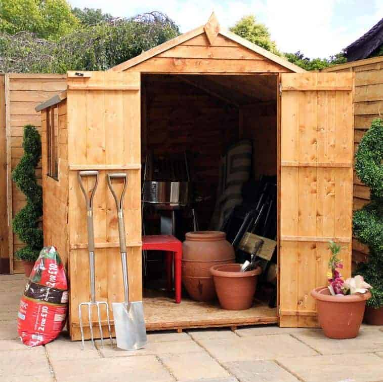 X Double Door Standard Overlap Apex Garden Shed