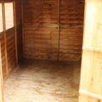 8 x 6 Double Door Standard Overlap Apex Garden Shed inside view