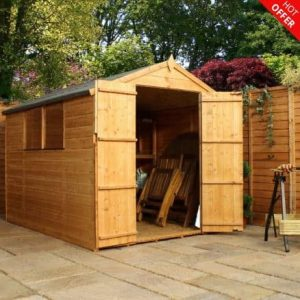 8' x 6' Double Door Tongue and Groove Apex Shed