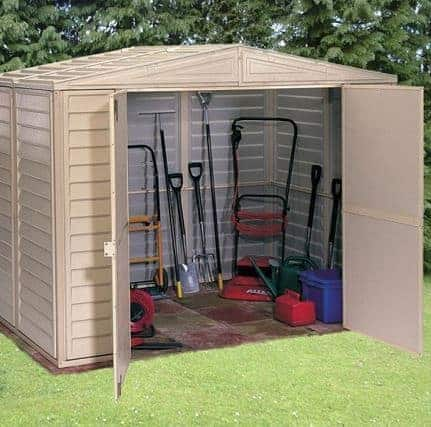 8' x 6' Duramax Duramate Steel Framed Plastic Apex Shed