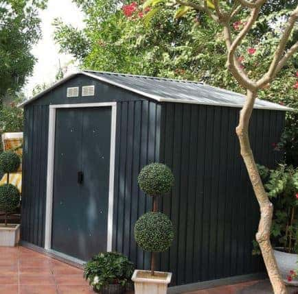 8' x 6' Emerald Anthracite Metal Shed