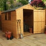 8' x 6' Large Door Tongue and Groove Apex Shed