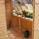 8' x 6' Premier Groundsman Potting Shed Inside View
