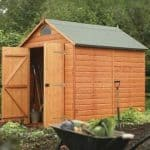 8' x 6' Rowlinson Deluxe Shiplap Security Shed