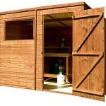 8' x 6' Single Door Tongue and Groove Pent Shed Side View