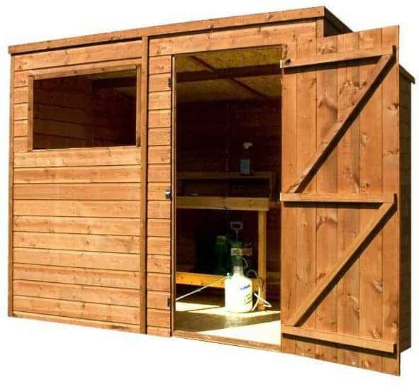 8' x 6' Single Door Tongue and Groove Pent Shed