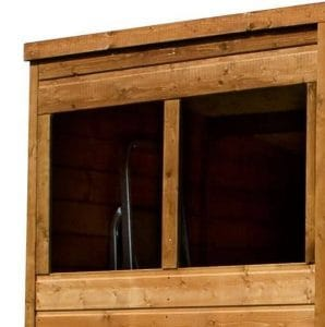 8' x 6' Single Door Tongue and Groove Pent Shed Window