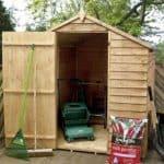 8' x 6' Windowless Overlap Apex Wooden Garden Shed