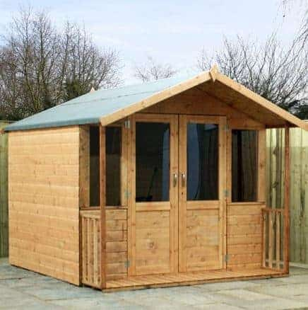 8' x 7' Traditional Summerhouse With Veranda