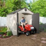 8' x 7.5' Lifetime Plastic Outdoor Storage Shed With 1 Window