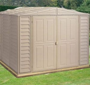 8' x 8' Duramax Duramate Steel Framed Plastic Apex Shed