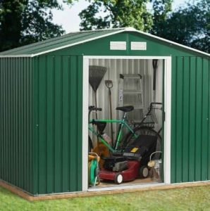 8' x 8' Emerald Rosedale Metal Shed