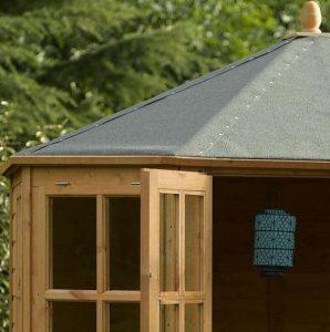 8' x 8' Rowlinson Ryton Octagonal Summer House Mineral Felt Roof