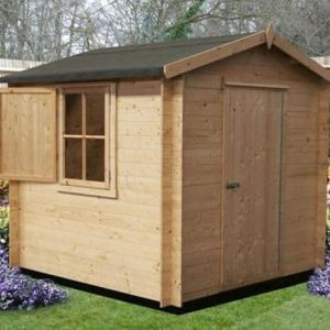 8' x 8' Shire Camelot Log Cabin