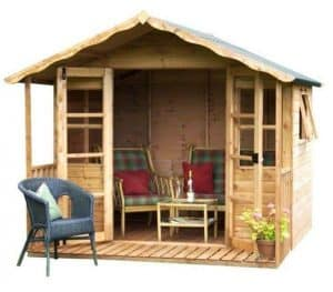 8' x 8' Stratford Summer House With Veranda Overall View