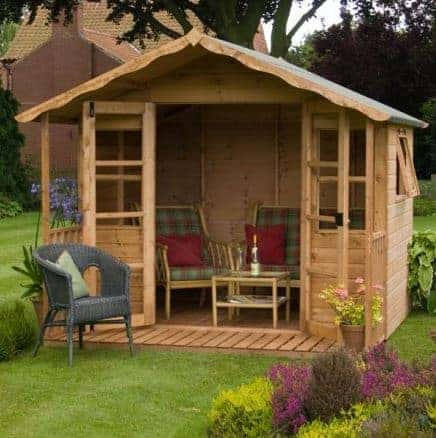 8 x 8 stratford summer house with veranda - Garden Sheds With Veranda