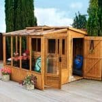 8' x 8' Tongue and Groove Combi Greenhouse