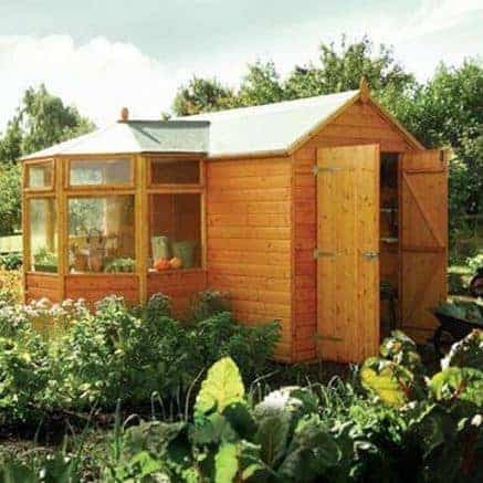 8'6'' x 10'2'' Rowlinson Deluxe Shiplap Corner Potting Shed