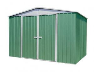 9 10 x 12 Premium Pale Eucalyptus Easy Build Apex Metal Shed