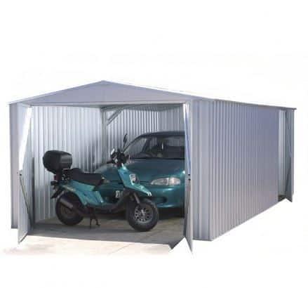 9' 10 x 19' 8 Premium Metal Garage Easy Build Metal Shed - What Shed